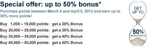 pc 50 50% Bonus Buying Priority Club Points & Pointsbreaks
