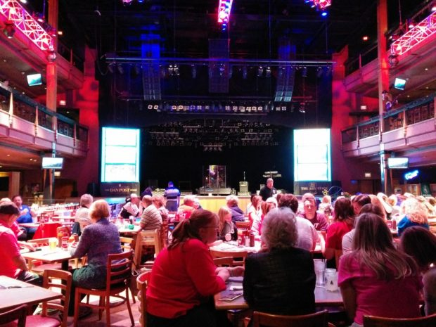 Line dancing at the Wildhorse Saloon