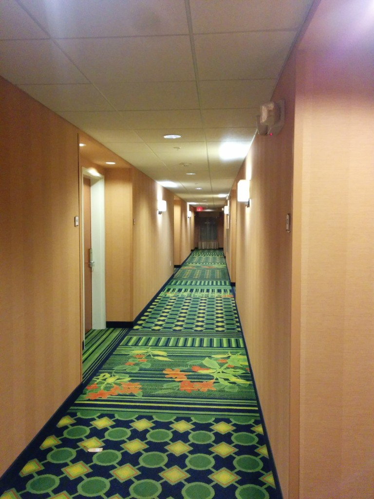 Nice clean hallways and hotel
