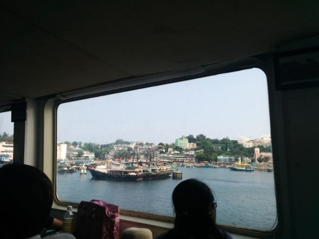View of Cheung Chau from boat