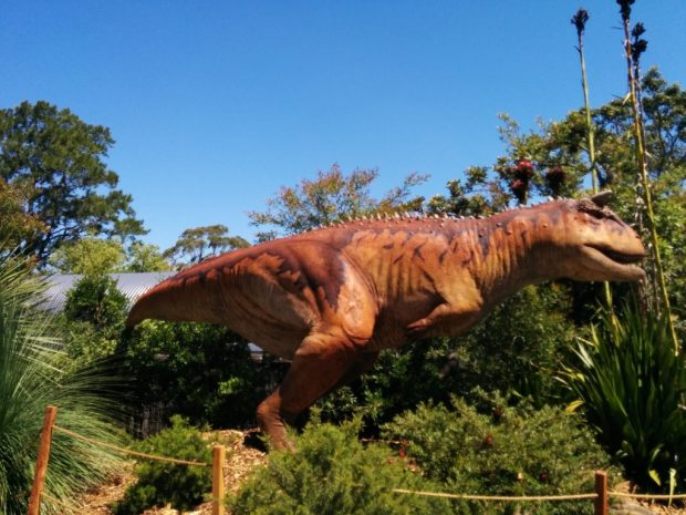 giant dinosaur at taronga zoo