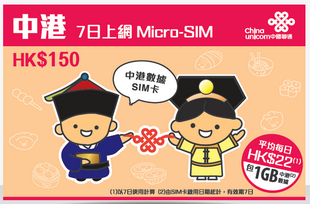 china unicom data sim
