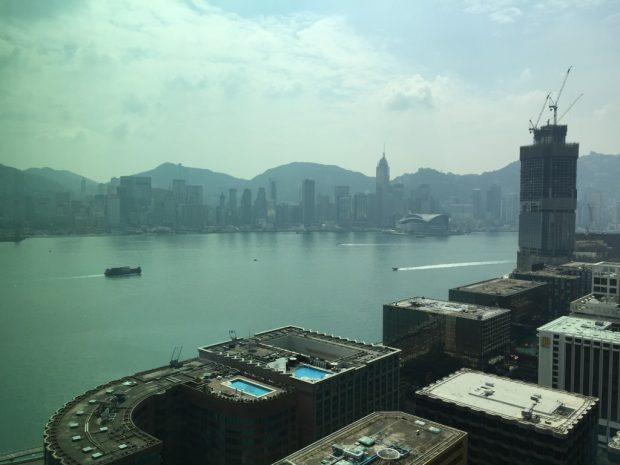 Day view HK harbour