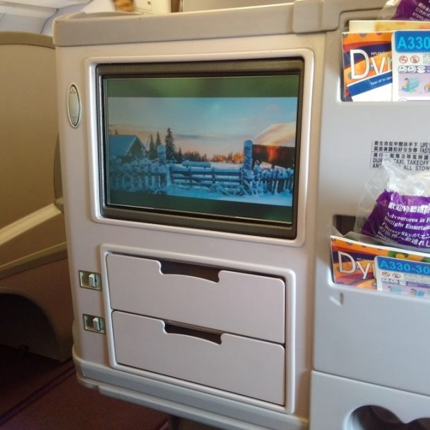 China Airlines seatback