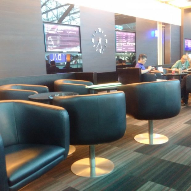 EVA Air Club Lounge seating (HK Travel Blog)