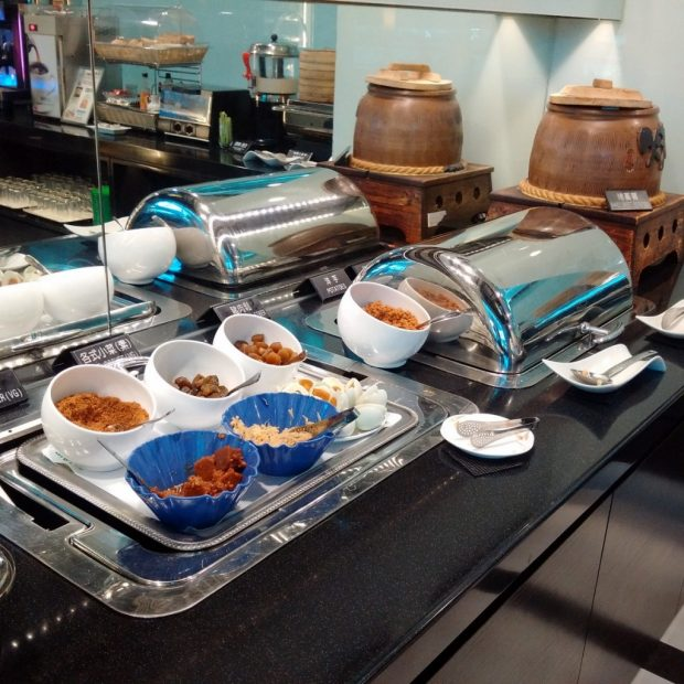 EVA Air Club lounge food (HK Travel Blog)