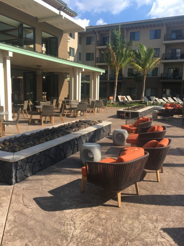 Firepits and Seating during day
