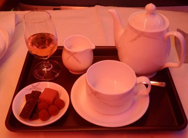 Teas and pralines CX521 (HK Travel Blog)