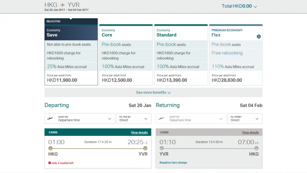 Cathay pricing 4 (HK Travel Blog)