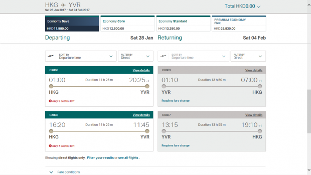 Cathay pricing 5 (HK Travel Blog)
