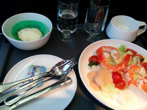 qantas domestic business class meal