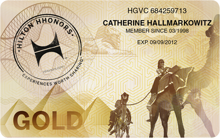 hhonors gold card