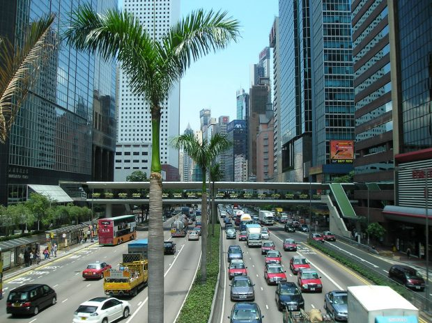 Traffic in Hong Kong