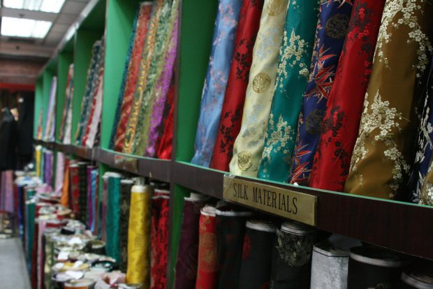 Chinese silk products