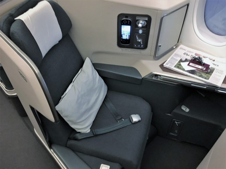 Cathay Pacific A350 Business Class Seat
