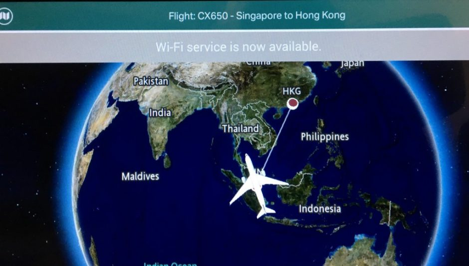 IFE system Cathay Pacific A350 Business Class