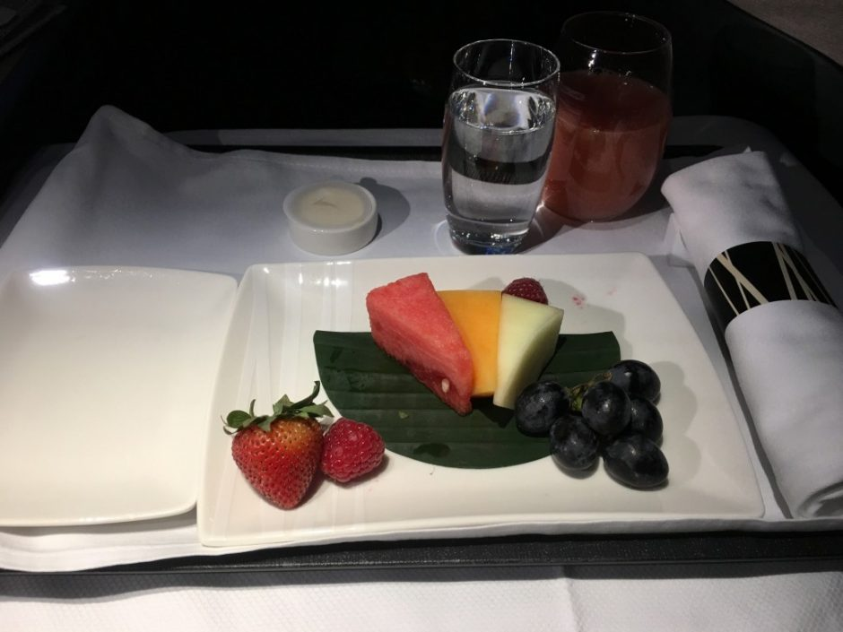Fruit Plate Starter Cathay Pacific A350 Business Class